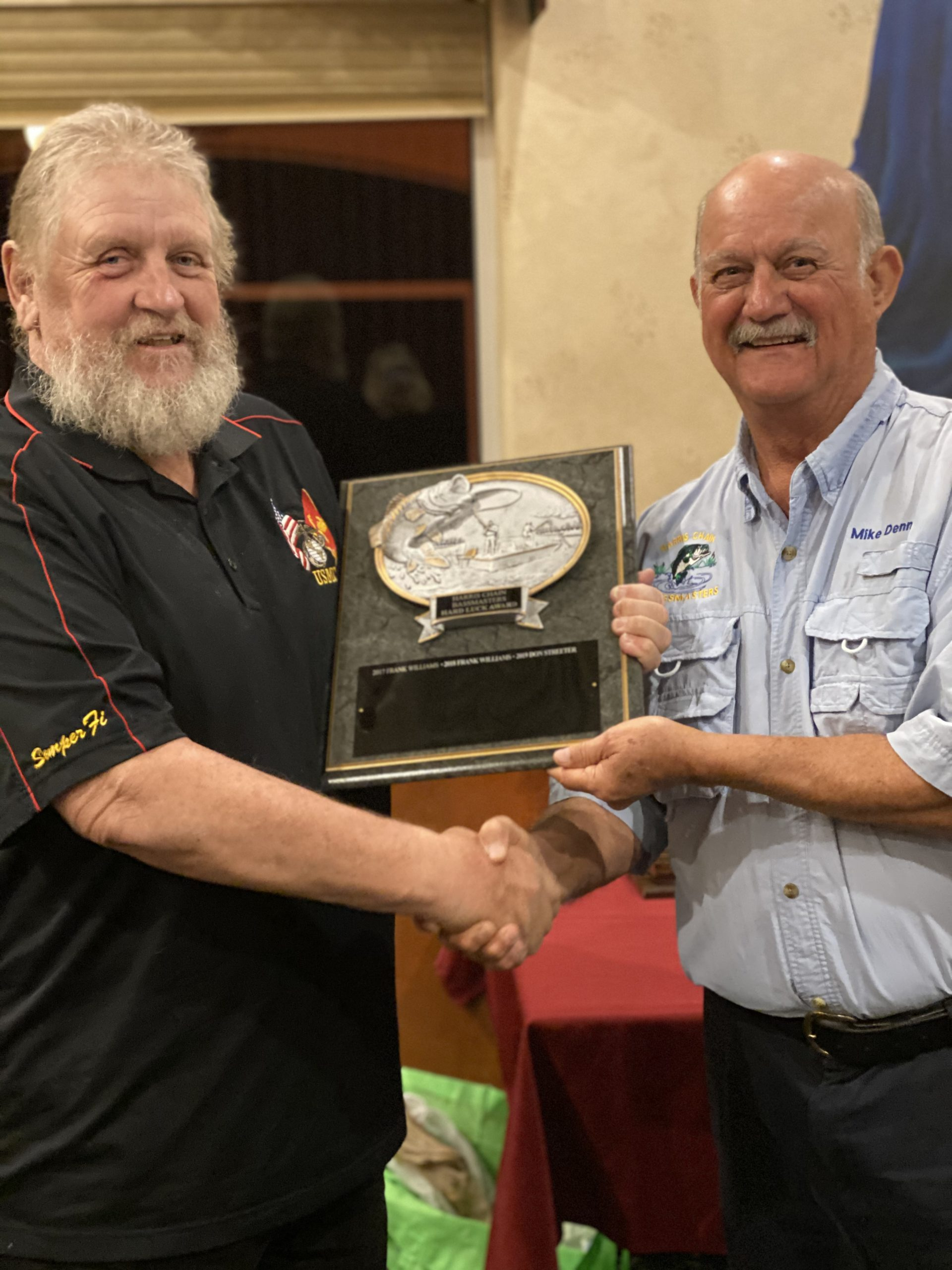 Don Streeter - 2019 Hard Luck Award