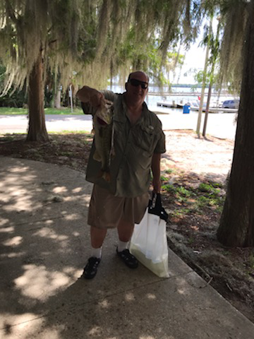Richard Blakely - 1st Place Co-Angler & Big Fish winner - Lake Harris - June 2020