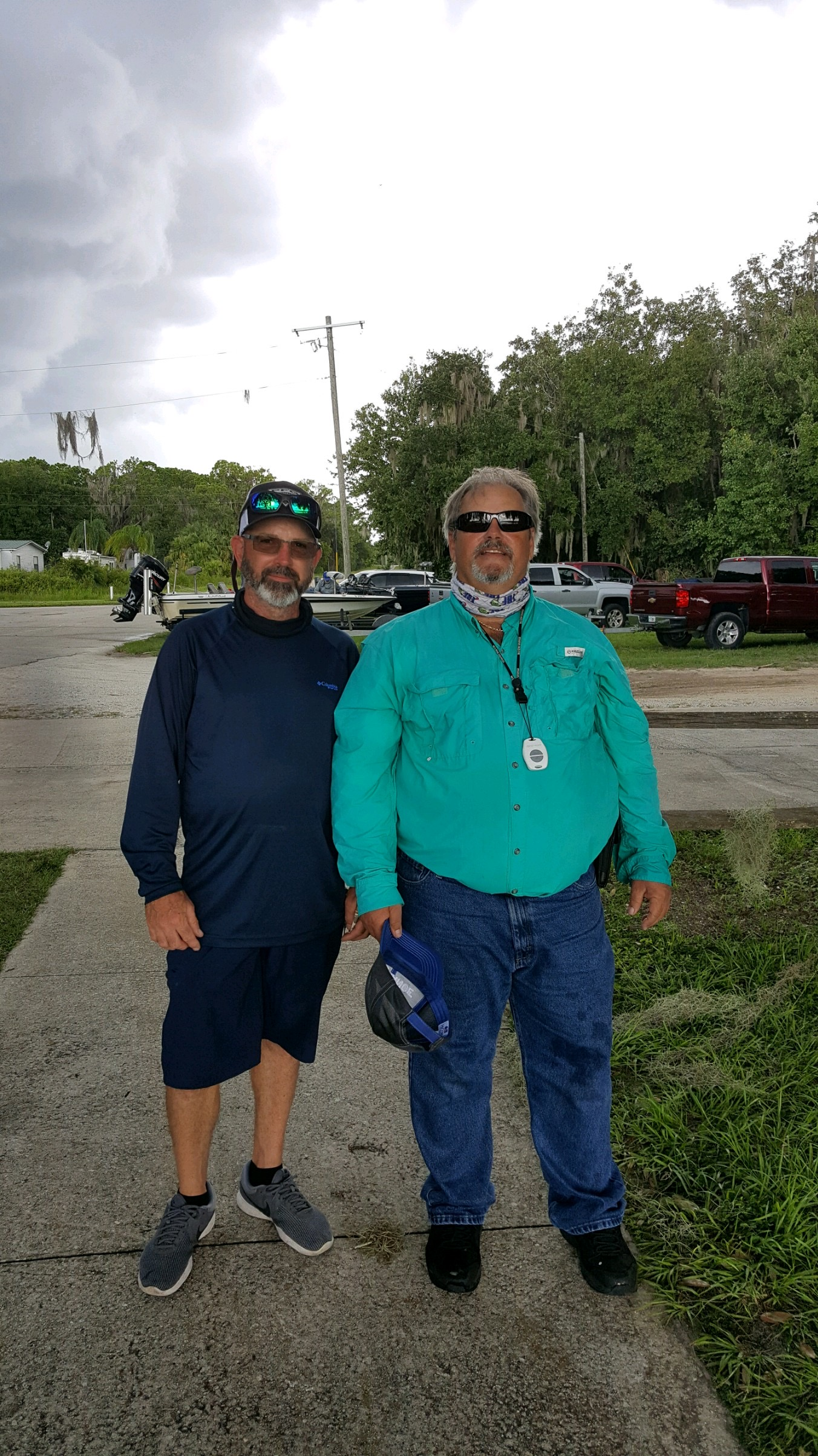 Ed Goans (right) - 1st Place Angler - Lake Walk in Water - August 2020