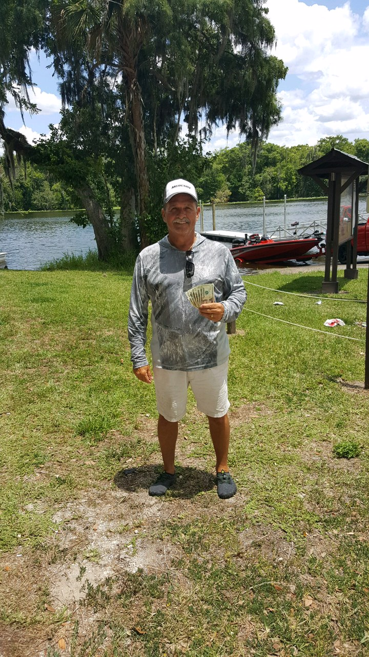 Steve Cothran - 2nd Place Co-Angler - Lake Harris only - July 2021